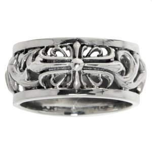 Fingerring Silver 925 Cross Tribal_pattern Leaf Plant_pattern