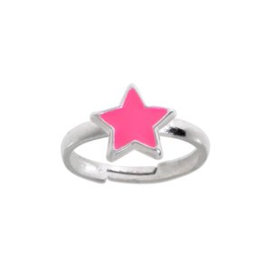 Kids ring Silver 925 Enamel Star