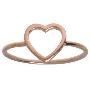 Bague de doigt Argent 925 Revêtement PVD (couleur or) Coeur C?ur Amour