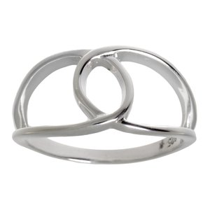 Fingerring Silver 925 Ribbon Bow Hair_bow Eternal Loop Eternity