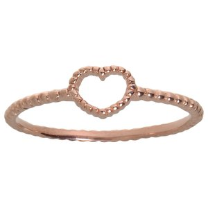 Fingerring Silver 925 PVD-coating (gold color) Heart Love