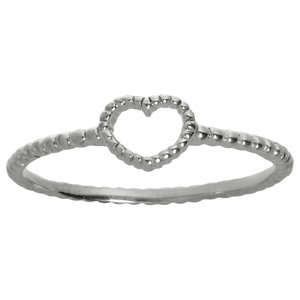 Fingerring Silver 925 Heart Love