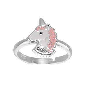 Kids ring Silver 925 Epoxy Unicorn