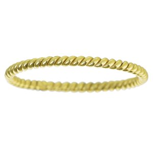 Ring Silver 925 Gold-plated Eternal Loop Eternity Spiral Stripes Grooves Rills