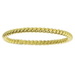 Bague de doigt Argent 925 Revêtement d´or (doré) Éternel Dragonne Infini Spirale Bandes Rayures Zébrure