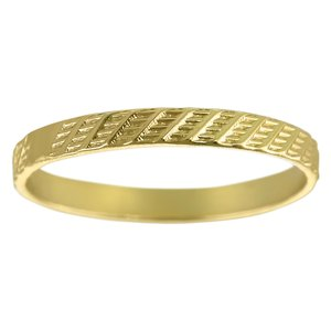 Ring Silver 925 Gold-plated Stripes Grooves Rills