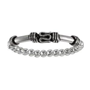 Fingerring Silber 925 Kunststoff Tribal_Zeichnung Tribal_Muster
