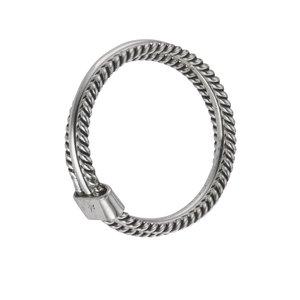 ring Zilver 925 streep lijn ribbels spiraal