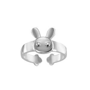 Fingerring Silber 925 Hase Kaninchen