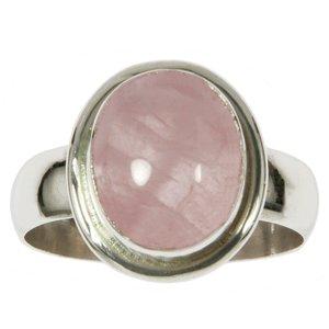 Fingerring Silber 925 Rosenquarz