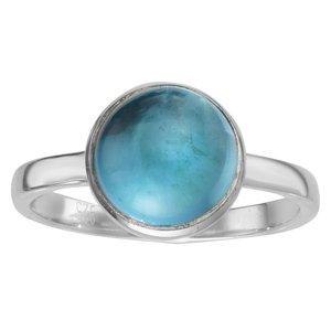 Fingerring Silber 925 Blauer Topas