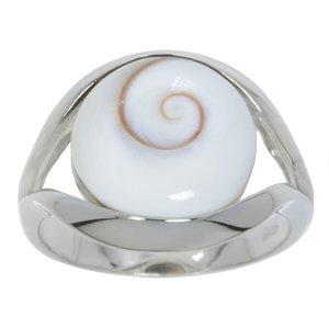 Anillo plata Plata 925 rodiada Concha Ojo de Shiva Espiral