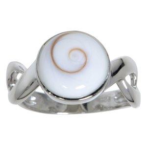Argento Argento 925 rodiato Conchiglia Shiva eye Spirale Eterno Eterna Passante
