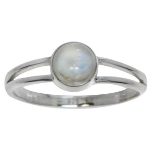 Ring Silver 925 Rainbow Moonstone