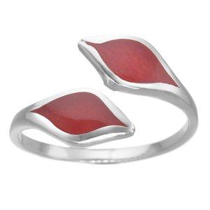 Anillo plata Plata 925 Coral rojo