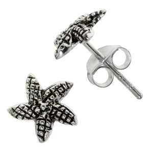 Earrings Silver 925 Starfish