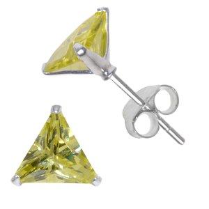 Earrings Silver 925 zirconia Triangle