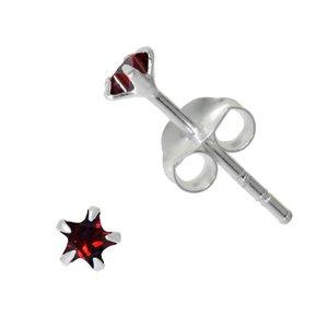 Pendientes Plata 925 Circonita Estrella