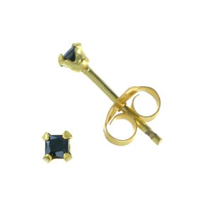 Ear studs Silver 925 Gold-plated zirconia