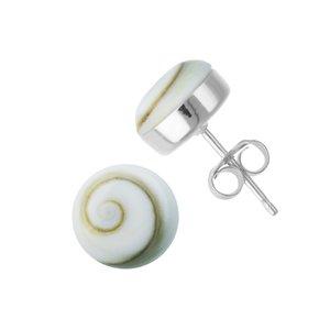 Pendientes Plata 925 Concha Ojo de Shiva Espiral