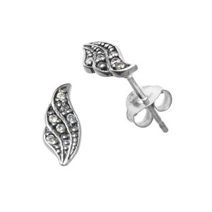 Ear studs Silver 925 zirconia Wings