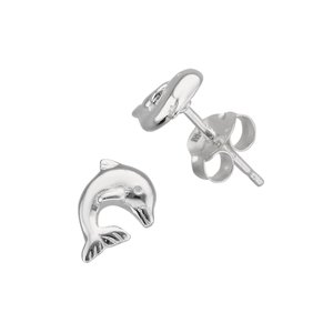 Kids earrings Silver 925 Dolphin