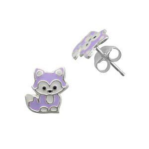 Kids earrings Silver 925 Epoxy