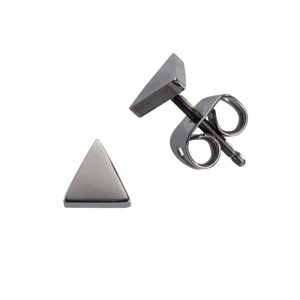 Earrings Titanium Triangle