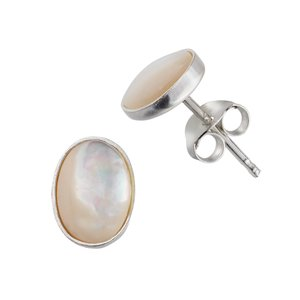 Ear studs Silver 925 Sea shell