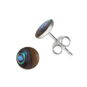 Ear studs Silver 925 Abalone