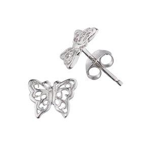 Ear studs Silver 925 Butterfly
