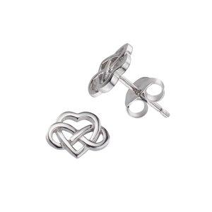Ear studs Silver 925 Heart Love Eternal Loop Eternity