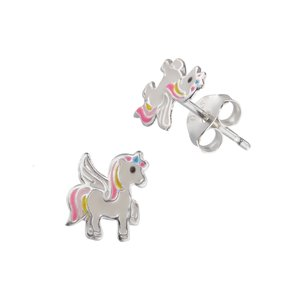 Kids earrings Enamel Unicorn