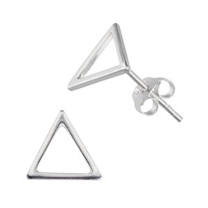Ear studs Silver 925 Triangle