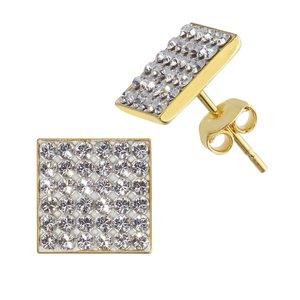 oorstekers Zilver 925 Goud-laagje (verguld) Swarovski kristal