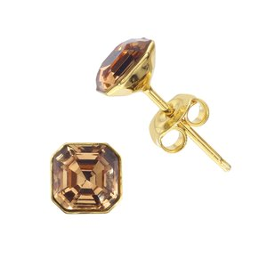 Ear studs Silver 925 Gold-plated Swarovski crystal
