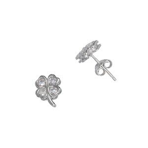 Ohrstecker Silber 925 Zirkonia Blatt Pflanzenmuster Florales_Muster