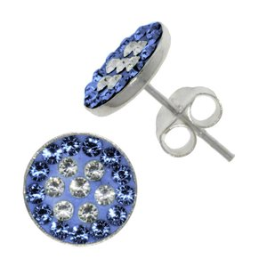 Ear studs Silver 925 Crystal