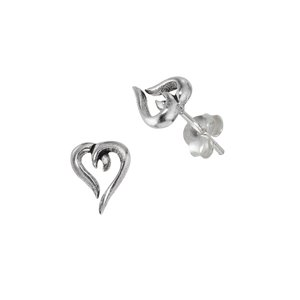 Earrings Silver 925 Heart Love