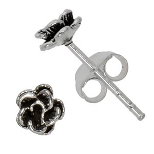 Earrings Silver 925 Flower Rose