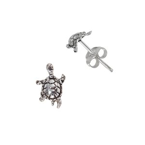 Earrings Silver 925 Turtle Tortoise
