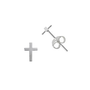Earrings Silver 925 Cross