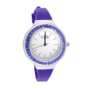 EraOra Reloj Acero fino Cristal mineral Cristal Silicona
