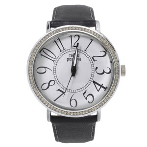 EraOra Watch Stainless Steel Mineral glass Crystal Leather