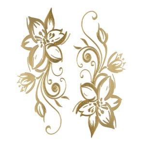 Fake Tattoo Tribal_pattern Leaf Plant_pattern Flower