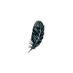 Fake Tattoo Feather