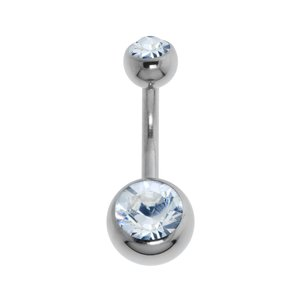 Piercing nombril Titane Cristal