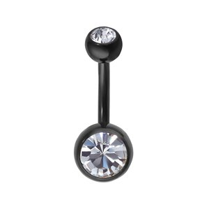 Bellypiercing Titanium Crystal Black PVD-coating