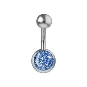 Piercing de ombligo Titanio cristales de Swarovski