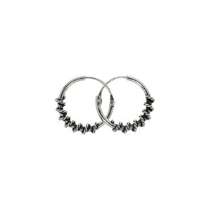 Hoops Silver 925 Tribal_pattern